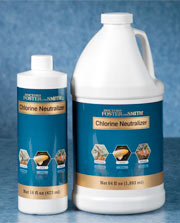 Use our Chlorine Neutrilizer to effectively remove any potential residual chlorine.